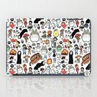 Kawaii Ghibli Doodle iPad Case