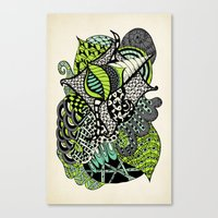 The flying snail Canvas Print