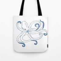 The Kraken Sketch Tote Bag