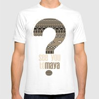 toMAYA Mens Fitted Tee White SMALL