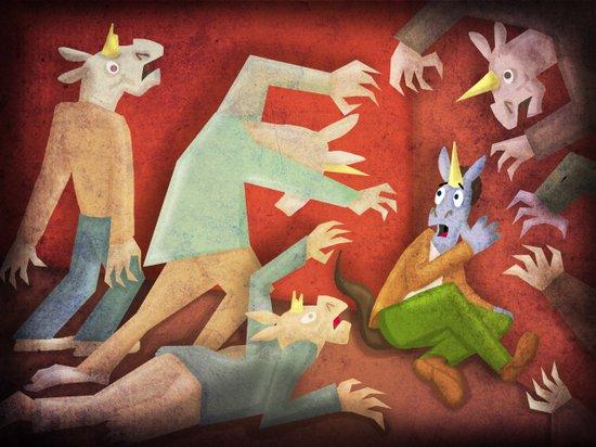 Zombie Unicorn V02 Art Print
