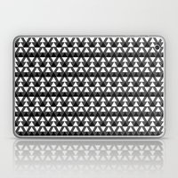 Black & White Triangles Laptop & iPad Skin