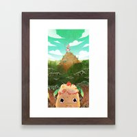 Bratty Cake Framed Art Print