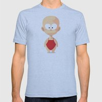 Apple Mens Fitted Tee Athletic Blue SMALL