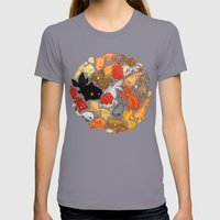 For The Love Of Goldfish Womens Fitted Tee Slate SMALL