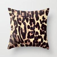 Leopard Print Throw Pillow