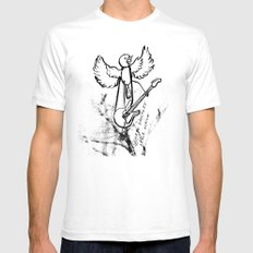 ROCKIN ROBIN White SMALL Mens Fitted Tee