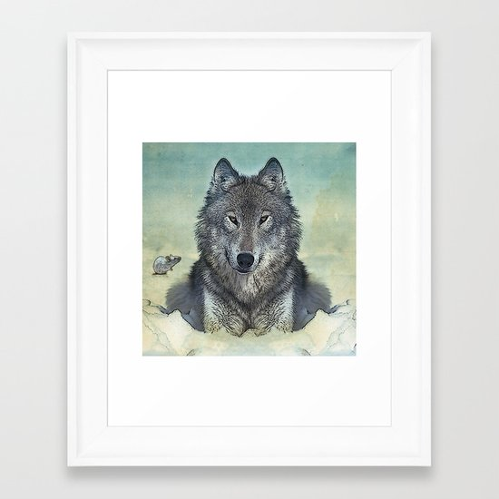 Scout and tiny Framed Art Print