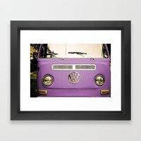 Summer of Love - Radiant Orchid Framed Art Print