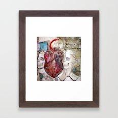 One Heart Framed Art Print