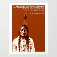 Sitting Bull Native Indi… Art Print