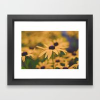 Its All Yellow Framed Art Print