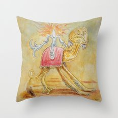 Atop my Desert Steed Throw Pillow