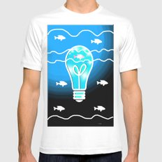 Shine the Way SMALL Mens Fitted Tee White