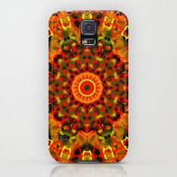 iPhone Cases featuring Red, Orange, and Yellow Kaleidoscope by Dweezal
