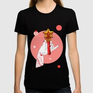 Mars Womens Fitted Tee Black SMALL