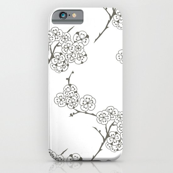 Japanese Trees ( Japan, Asia, Black-White, Delicate, Elegant print ) iPhone & iPod Case