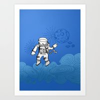 Astrocat Art Print