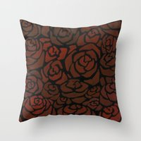 Cluster Of Roses Throw Pillow