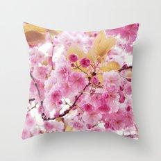 Bloom, bloom, bloom! Throw Pillow
