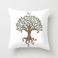 Shirley's Tree Throw Pillow