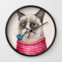 Sailor Cat II Wall Clock