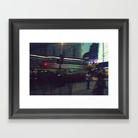 A Surreal Oxford Street-… Framed Art Print