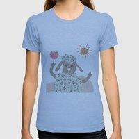 Sheep Collage Womens Fitted Tee Athletic Blue SMALL