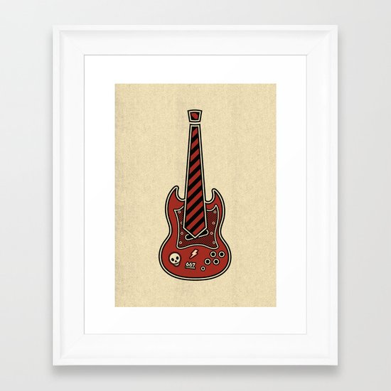 School of Rock Framed Art Print