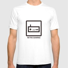 retro gaming SMALL Mens Fitted Tee White