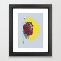 My Heart Goes Boom Framed Art Print