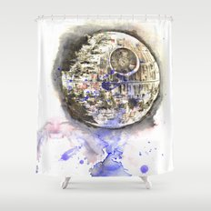 Star Wars Art Painting The Death Star Shower Curtain