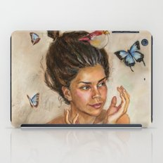 Girl with butterflies iPad Case