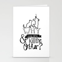 Erase the dividing line Stationery Cards