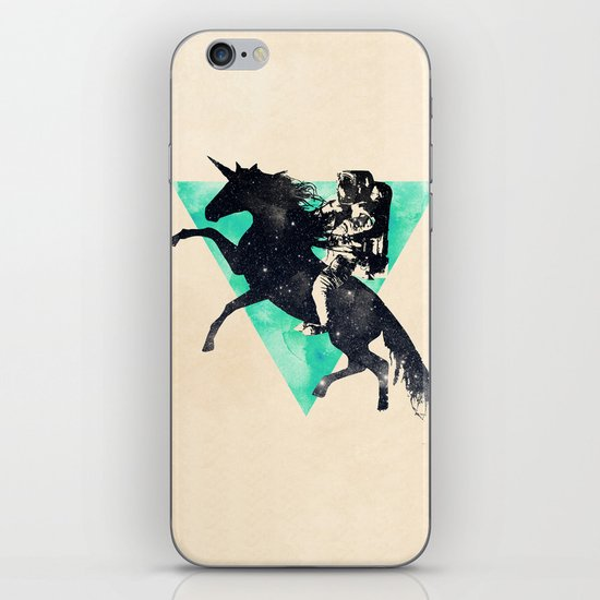 Ride the universe iPhone & iPod Skin
