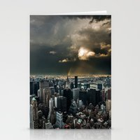 Great Skies Over Manhatt… Stationery Cards
