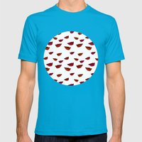 Retro Lips Mens Fitted Tee Teal SMALL
