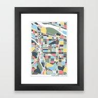 Portland. Framed Art Print