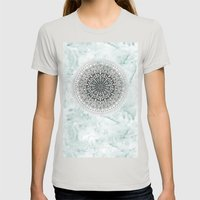 ICELAND MANDALA Womens Fitted Tee Silver SMALL