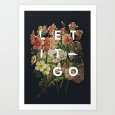 Let It Go Art Print