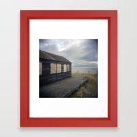 Beach house Framed Art Print