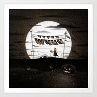 Drawlloween 2015: Happy … Art Print