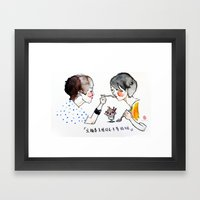 I support same-sex marriage Framed Art Print