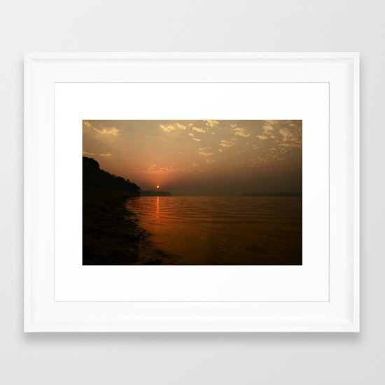 the day begins... Framed Art Print