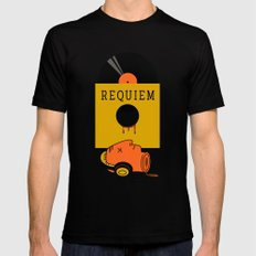 requiem Mens Fitted Tee SMALL Black