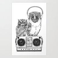 Art Print featuring Silent Night ANALOG zine by jewelwing