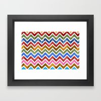 Chevrons In Color Framed Art Print