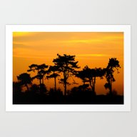 Sunset Trees Art Print