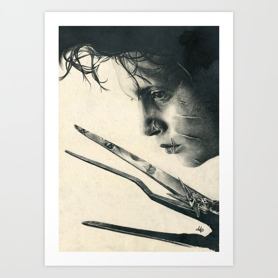 Edward Scissorhands Johnny Depp Traditional Portrait Print Art Print By Society6