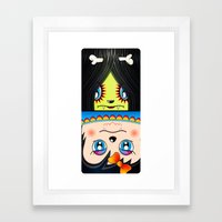 Beware The Square I Framed Art Print
